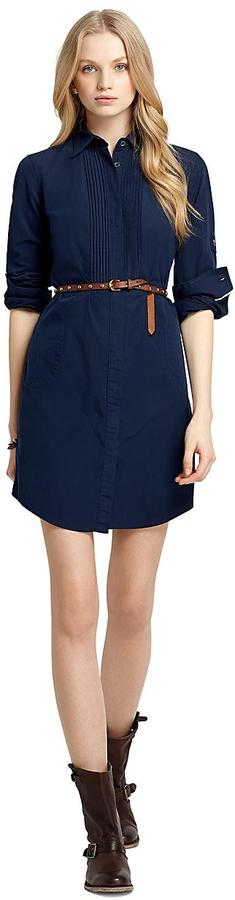 Brooks Brothers Pleated Front Shirtdress