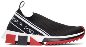 Dolce & Gabbana Black Knit Sock Sneaker