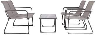Patio Sense Pinellas Indoor / Outdoor Sling Loveseat, Chair & Coffee Table 4-piece Set