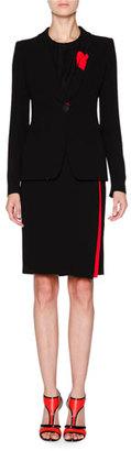 Giorgio Armani Tuxedo Jacket W/Knotted Lapel, Black/Scarlet $3,825 thestylecure.com