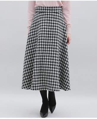 Clear Impression (クリア インプレッション) - CLEAR IMPRESSION 千鳥格子・チェック柄 シャギーAラインフレアスカート クリアインプレッション スカート