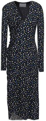 Jason Wu Ruched Printed Stretch-jersey Midi Dress