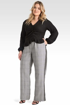 Standards & Practices Rowan Plaid Wide Leg Pants Size 14