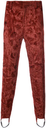 Y/Project Y / Project synthetic fur stirrup trousers