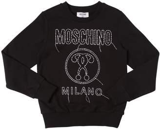 Moschino Logo Embroidered Cotton Sweatshirt