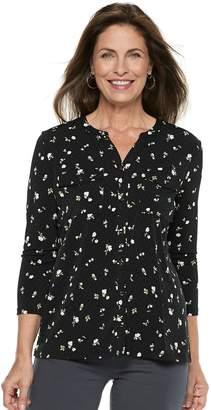 Croft & Barrow Women's Print Shirt
