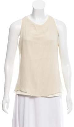 Brunello Cucinelli Sleeveless Cashmere-Silk Top