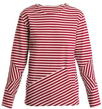 Myar - 2000s Rut00 Russian Long Sleeved Top - Womens - Red Stripe