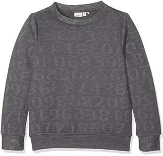 Name It Girl's Nitinu Unb SWE NMT Sweatshirt, Grey (Dark Melange), (Manufacturer Size: -152)