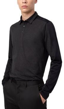 HUGO BOSS Hugo Men's Cotton Colorblocked Long-Sleeve Polo Shirt