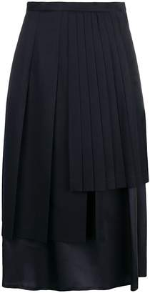 Comme des Garcons layered mid-length skirt