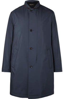 Loro Piana Sebring Windmate Storm System Suede-Trimmed Shell Coat - Men - Navy