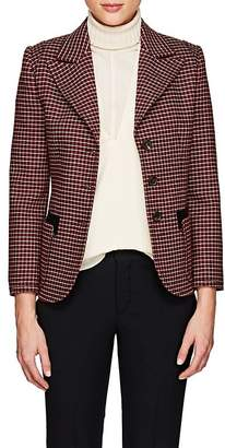 Chloé Women's Houndstooth Wool-Blend Three-Button Jacket