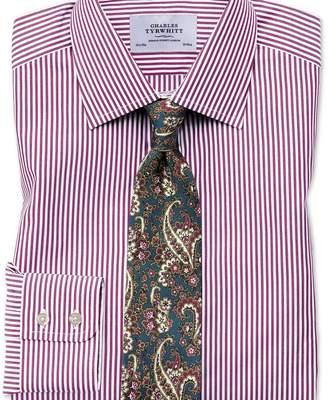 Charles Tyrwhitt Slim fit Bengal stripe purple shirt