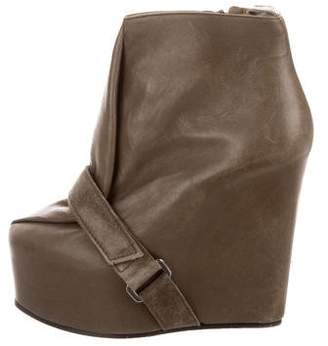 Acne Studios Platform Wedge Ankle Boots
