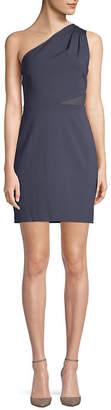 Halston Mesh-Paneled Sheath Dress