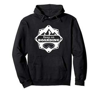 Keep on Boarding White Powder Life Winter Hoodie Sweatshirt