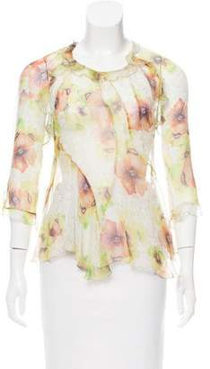 Isabel Marant Silk Floral Blouse
