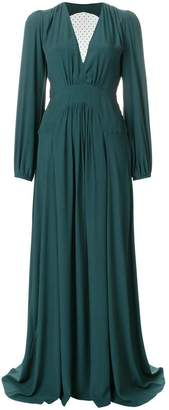 N°21 N.21 Point D'esprit Tulle-panel Crepe Gown