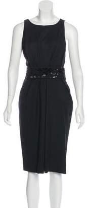 J. Mendel Scoop Neck Midi Dress