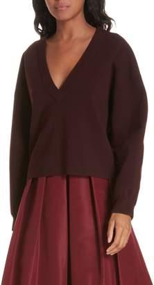 Tibi Sculpted Wool Blend Sweater