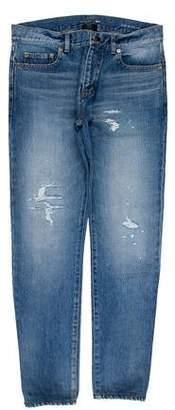 Saint Laurent D02 Distressed Skinny Jeans
