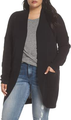 BP Stitch Curve Hem Cardigan(Plus Size)