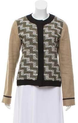 Derek Lam Jacquard Snap-Up Jacket