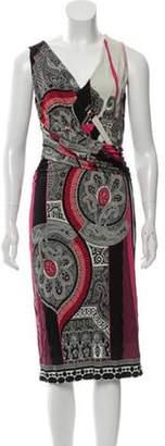 Etro Printed Midi Dress Pink Printed Midi Dress