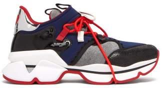 fe459271b158 Christian Louboutin Red Runner Neoprene Trainers - Mens - Multi