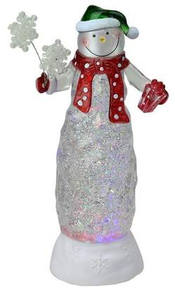 The Holiday Aisle Swirling Glitter LED Lighted Snowman Christmas Decoration