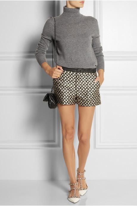 RED Valentino Floral-jacquard shorts