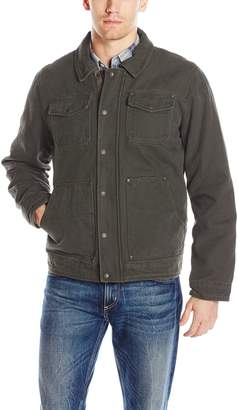 Bass GH Men's Laydown Collar Two Pocket Depot Jacket with Woodsman Plaid Lining