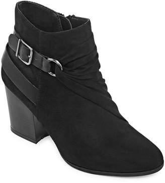 Andrew Geller Womens Kate Block Heel Zip Dress Boots
