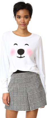 Wildfox Polar Bear Emoji Sweatshirt $98 thestylecure.com
