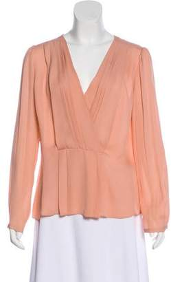 Rebecca Taylor Silk Pleated Long Sleeve Blouse w/ Tags