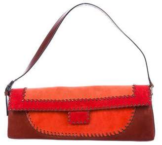 Salvatore Ferragamo Tri-Color Suede Shoulder Bag