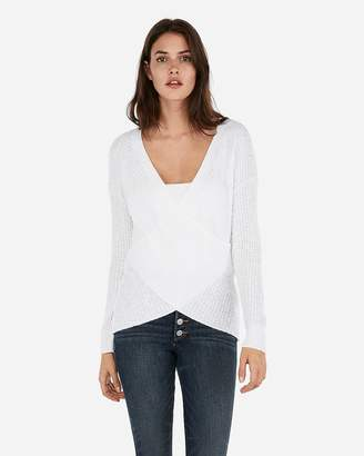 Express Wrap Front Tunic Sweater