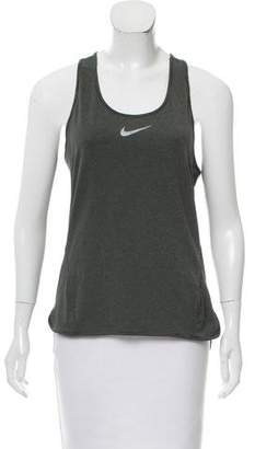 Nike Logo Print Athletic Top