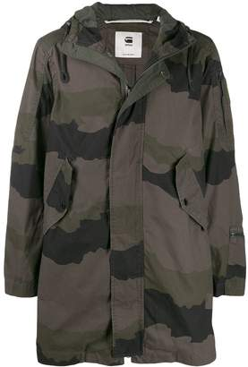 G Star Research camouflage print hooded parka