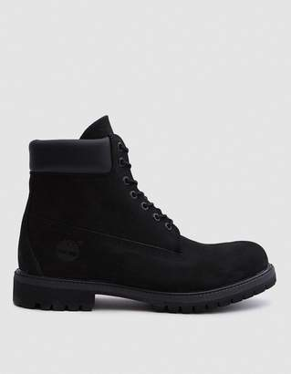 Timberland 6 in. Premium Boot in Black Nubuck