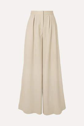 Brandon Maxwell Wool-blend Wide-leg Pants - Sand