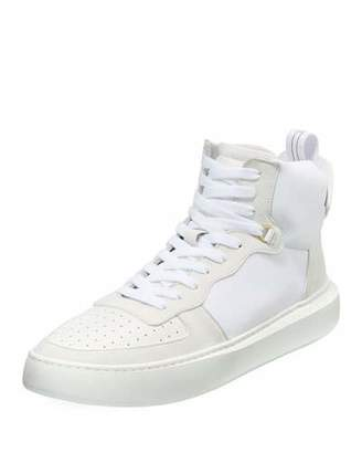 Buscemi Men's Uno Basket Leather High-Top Sneakers