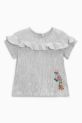 Next Girls Stripe Embroidered Character Blouse (3mths-6yrs)