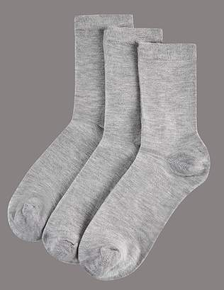 Marks and Spencer 3 Pair Pack Modal Rich Ankle High Socks