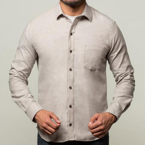 Blade + Blue Oatmeal Heather Brushed Cotton Shirt - Peter