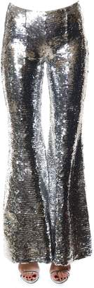 Dondup Silver Sequined Flared Trousers