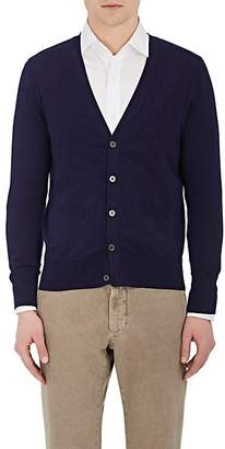 Piattelli MEN'S COTTON-BLEND V-NECK CARDIGAN