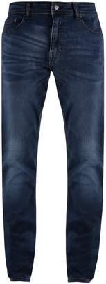 Mens Big & Tall Blue Overdye Tyler Skinny Fit Jeans