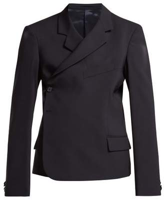 Martine Rose Wrap Blazer - Womens - Navy